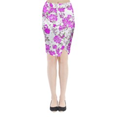 Floral Dreams 12 F Midi Wrap Pencil Skirt