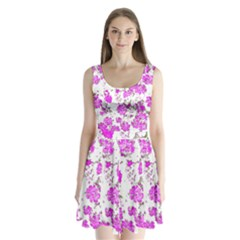 Floral Dreams 12 F Split Back Mini Dress