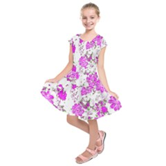 Floral Dreams 12 F Kids  Short Sleeve Dress