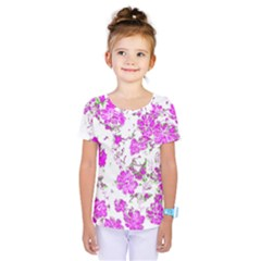 Floral Dreams 12 F Kids  One Piece Tee
