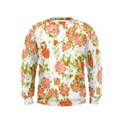 Floral Dreams 12 D Kids  Sweatshirt