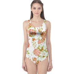 Floral Dreams 12 D One Piece Swimsuit