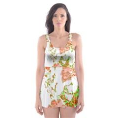 Floral Dreams 12 D Skater Dress Swimsuit
