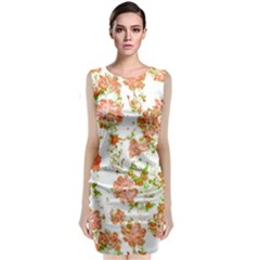 Floral Dreams 12 D Classic Sleeveless Midi Dress