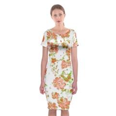 Floral Dreams 12 D Classic Short Sleeve Midi Dress