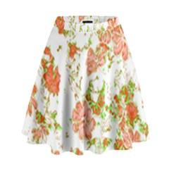 Floral Dreams 12 D High Waist Skirt