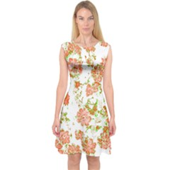 Floral Dreams 12 D Capsleeve Midi Dress