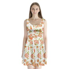 Floral Dreams 12 D Split Back Mini Dress