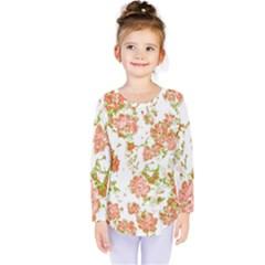 Floral Dreams 12 D Kids  Long Sleeve Tee