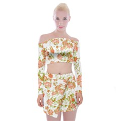 Floral Dreams 12 D Off Shoulder Top With Skirt Set