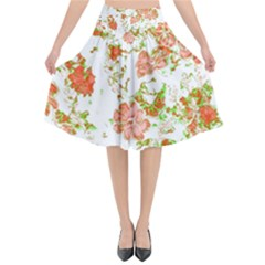 Floral Dreams 12 D Flared Midi Skirt