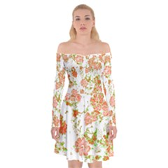 Floral Dreams 12 D Off Shoulder Skater Dress