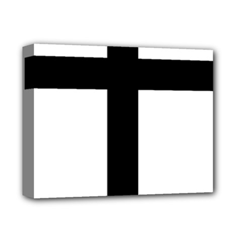 Patriarchal Cross Deluxe Canvas 14  X 11