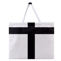 Patriarchal Cross Zipper Large Tote Bag