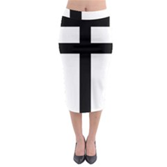 Patriarchal Cross Midi Pencil Skirt