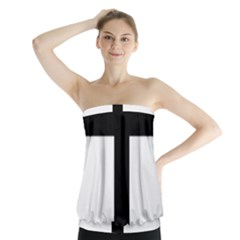 Patriarchal Cross Strapless Top