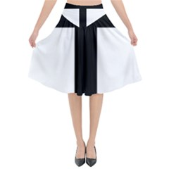 Patriarchal Cross Flared Midi Skirt