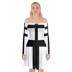 Patriarchal Cross Off Shoulder Skater Dress