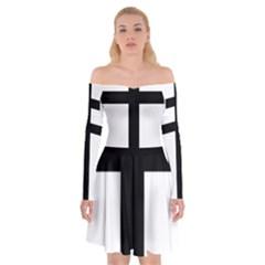 Patriarchal Cross Off Shoulder Skater Dress