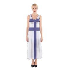 Patriarchal Cross Sleeveless Maxi Dress