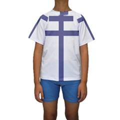 Patriarchal Cross Kids  Short Sleeve Swimwear