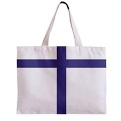 Patriarchal Cross Zipper Mini Tote Bag