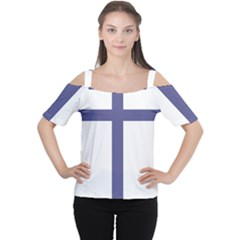 Patriarchal Cross Women s Cutout Shoulder Tee