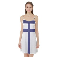 Patriarchal Cross Satin Night Slip