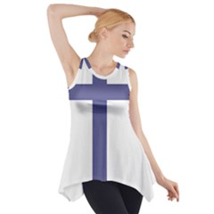 Patriarchal Cross Side Drop Tank Tunic