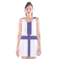 Patriarchal Cross Scoop Neck Skater Dress