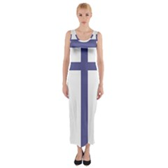 Patriarchal Cross Fitted Maxi Dress
