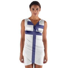 Patriarchal Cross Wrap Front Bodycon Dress