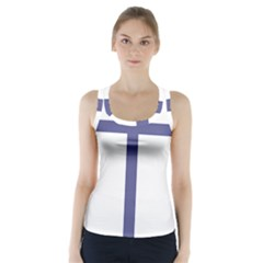 Patriarchal Cross Racer Back Sports Top