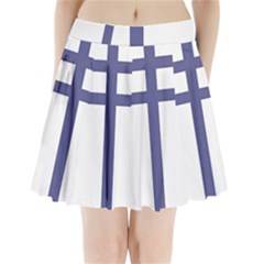 Patriarchal Cross Pleated Mini Skirt