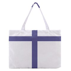 Patriarchal Cross Medium Zipper Tote Bag
