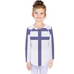 Patriarchal Cross Kids  Long Sleeve Tee