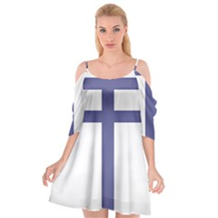 Patriarchal Cross Cutout Spaghetti Strap Chiffon Dress