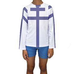 Patriarchal Cross  Kids  Long Sleeve Swimwear