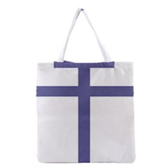 Patriarchal Cross  Grocery Tote Bag