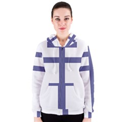 Patriarchal Cross  Women s Zipper Hoodie