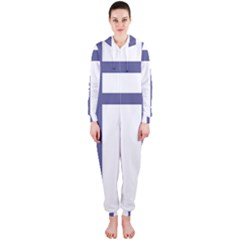 Patriarchal Cross  Hooded Jumpsuit (Ladies)