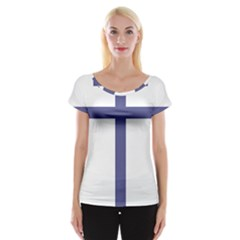 Patriarchal Cross  Women s Cap Sleeve Top