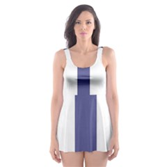 Patriarchal Cross  Skater Dress Swimsuit