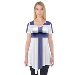 Patriarchal Cross  Short Sleeve Tunic