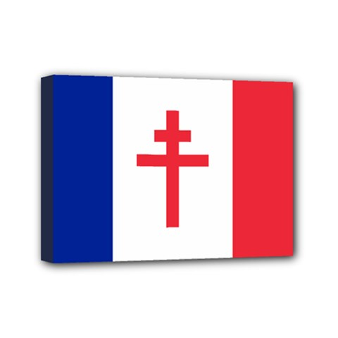 Flag Of Free France (1940 1944) Mini Canvas 7  X 5