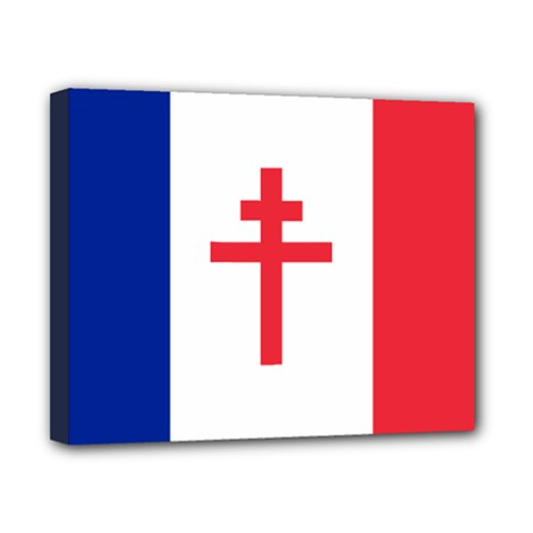 Flag Of Free France (1940 1944) Canvas 10  X 8