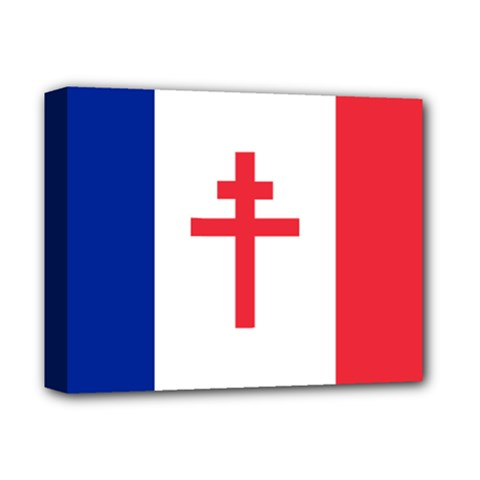 Flag of Free France (1940-1944) Deluxe Canvas 14  x 11