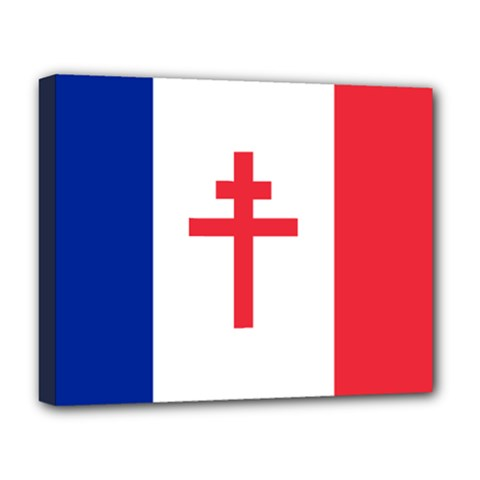Flag of Free France (1940-1944) Deluxe Canvas 20  x 16