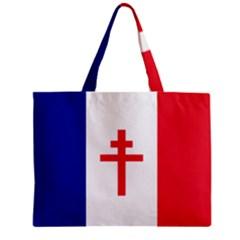 Flag Of Free France (1940 1944) Zipper Mini Tote Bag