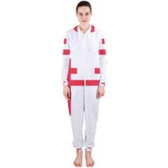 Flag Of Free France (1940 1944) Hooded Jumpsuit (ladies)